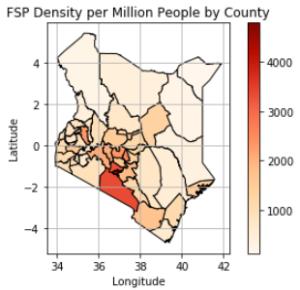 FSP density map Kenya